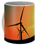 Sun Glare Upon Alberta Windfarm Coffee Mug