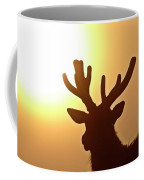 Sun Glaring Over A Bull Elk Coffee Mug