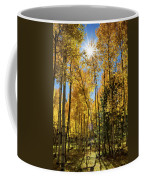 Sun Peaking Through The Aspens  Coffee Mug
