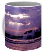 Sun Pokes Though Clouds By Stormy Sea Coffee Mug