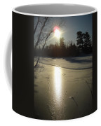 Sun Reflecting Off River Ice Coffee Mug