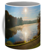 Sun Rising Over Lake Inspiration Coffee Mug