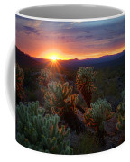 Sun Sets Over The Sonoran  Coffee Mug