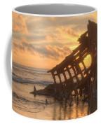 Sun Setting Behind Peter Iredale 0089 Coffee Mug