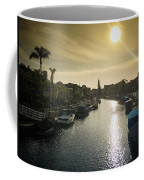 Sun Setting Over Canals Of Naples In Long Beach, Ca Coffee Mug