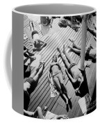 Sun Tanning At The Deligny Swimming Pool, Paris, June, 1963 Coffee Mug