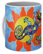 Sunbathing Lizards Coffee Mug