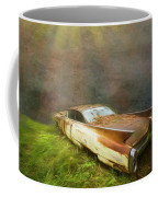 Sunbeams On A Classic Cadillac Coffee Mug
