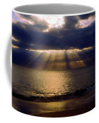 Sunbeams Radiating Through Clouds Before Sunset Coffee Mug