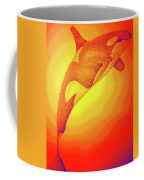 Sunburst Orca Coffee Mug