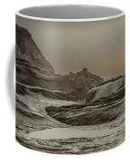 Sundown Over The Ocean Rocks Coffee Mug