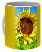 Sunflower And Bee Coffee Mug