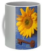 Sunflower And Skeleton Key Coffee Mug by Garry Gay