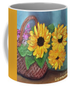 Sunflower Basket Coffee Mug