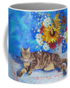 Sunflower Cat Coffee Mug