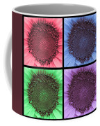 Sunflower Centered Color Collage 4 Coffee Mug