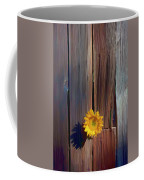 Sunflower In Barn Wood Coffee Mug