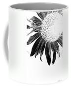Sunflower In Corner Bw Threshold Coffee Mug
