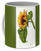 Sunflower In Gouache Coffee Mug