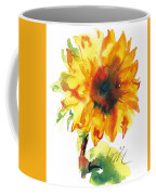 Sunflower With Blues Coffee Mug