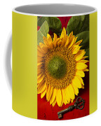Sunflower With Old Key Coffee Mug