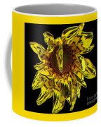 Sunflower With Stone Effect Coffee Mug