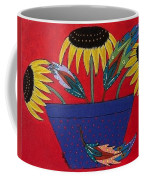 Sunflowers And Feathers Coffee Mug