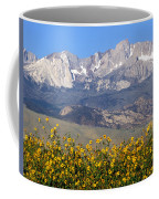 2a6742-sunflowers And Mount Humphreys  Coffee Mug