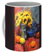 Sunflowers And Oranges Coffee Mug