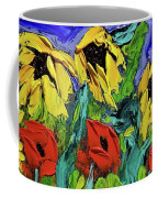 Sunflowers And Poppies - Little Treasures Series Coffee Mug