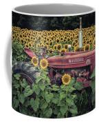 Sunflowers And Tractor Coffee Mug