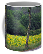 Sunflowers And Trees Growing Coffee Mug