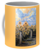 Sunflowers At Rest Stop Near Great Sand Dunes Coffee Mug