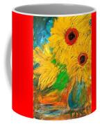 Sunflowers By The Lake Coffee Mug