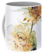Sunflowers II Uncropped Coffee Mug by Monique Faella