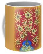 Sunflowers In A Blue Vase Coffee Mug