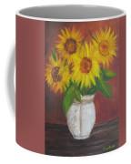 Sunflowers In A Clay Pot Coffee Mug