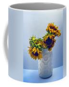 Sunflowers In Circle Vase Blue Tournesols Coffee Mug