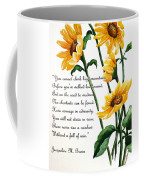 Sunflowers  Poem Coffee Mug
