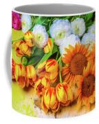 Sunflowers Tulips Coffee Mug