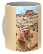Sunlight On Colorful Boulder Above Wash 3 In Valley Of Fire Coffee Mug