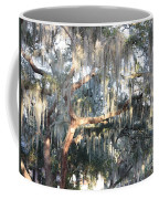 Sunlight On Mossy Tree Coffee Mug