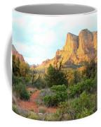 Sunlight On Sedona Rocks Coffee Mug