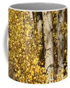 Sunlight Shines On Golden Aspen Leaves Coffee Mug by Charles Kogod