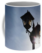 Sunlit Jewels - Stained Glass Lamps And Sunburst Right Coffee Mug