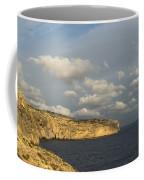 Sunlit Limestone Cliffs In Malta Coffee Mug