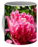Sunlit Pink Peony Coffee Mug
