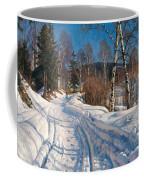 Sunlit Winter Landscape Coffee Mug