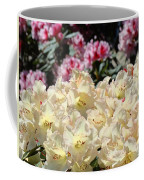 Sunlit Yellow Rhodies Art Print Creamy Rhododendrons Flowers Baslee Troutman Coffee Mug