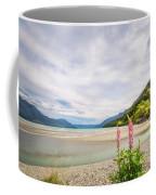 Sunny Day At Kinloch Wharf In New Zealand Coffee Mug